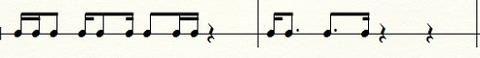 8分と16分が混在する場合の連桁