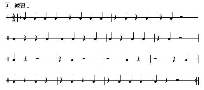 4分音符だけの練習課題