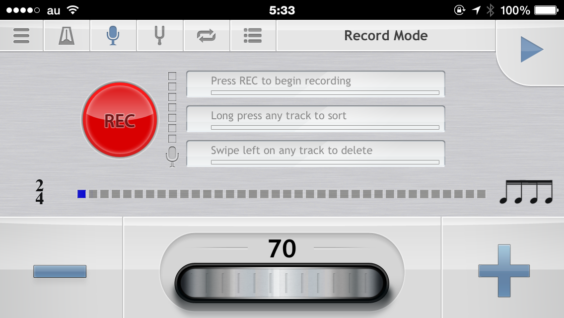 metronome レコードモード