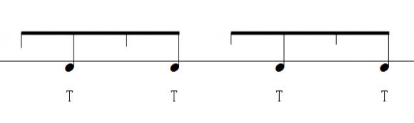 アクセントの楽譜、左手のみ
