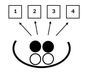 白玉黒玉の順列問題