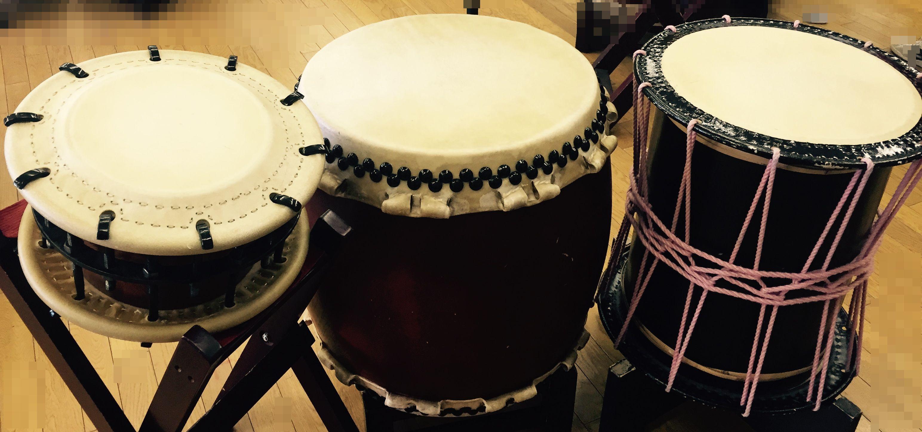 3種類の太鼓