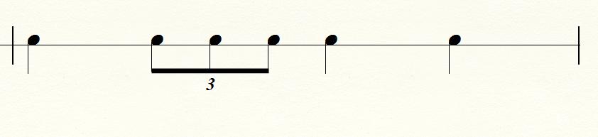 三連符の譜例